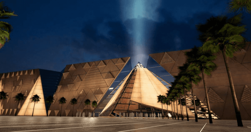 See inside the new Grand Egyptian Museum, located at the pyramids.