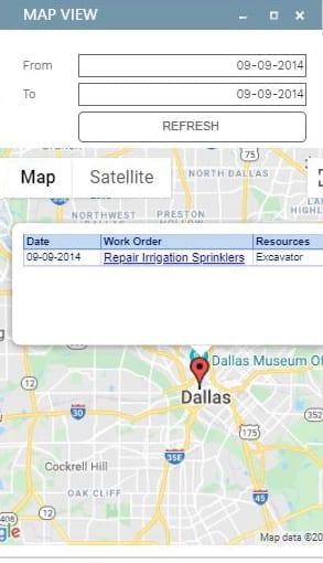 PMWeb 7 Assets Maintenance Dispatch Board Map