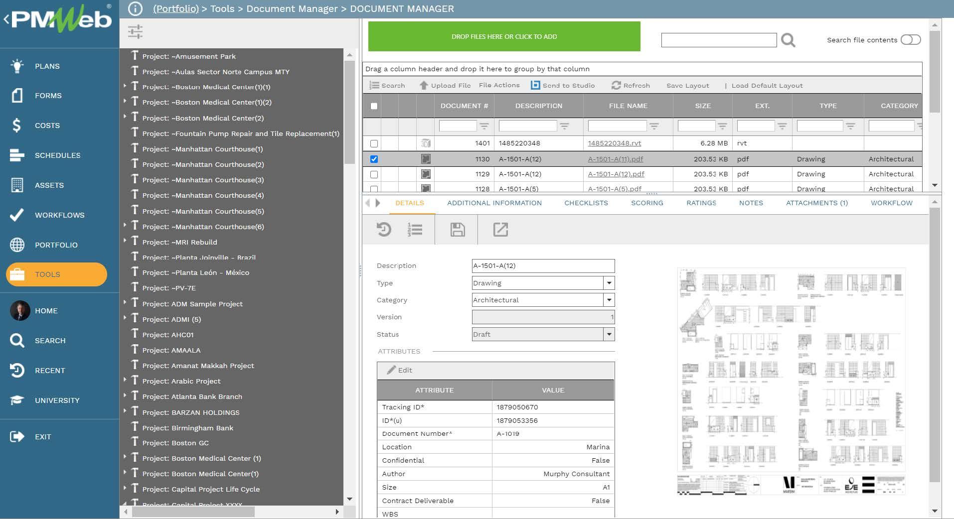 PMWeb 7 Tools Document Manager