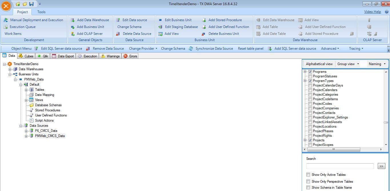 PMWeb 7 TimeExtender Demo