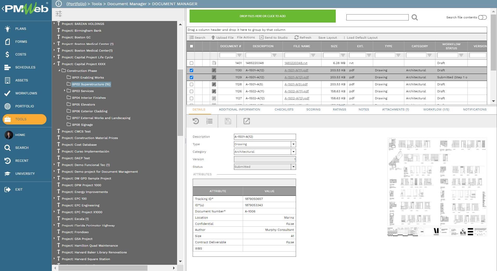 PMWeb 7 Tools Documents Manager