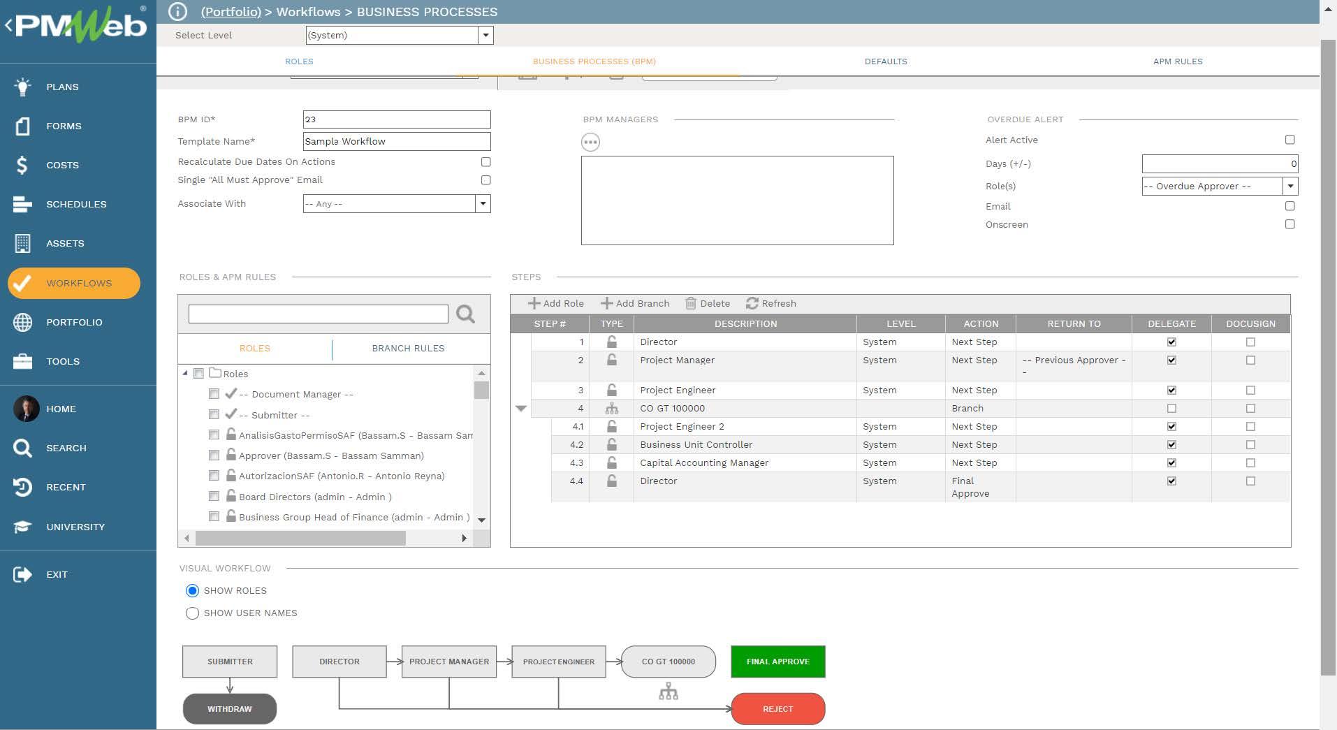 PMWeb 7 Workflows Business Processes (BPM)